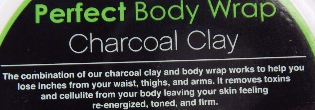Detoxifying Charcoal Clay Perfect Body Wrap 4 oz 120 ml Cellulite Detox Toning