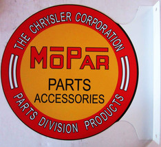 "MOPAR Parts Flange Sign 12"" Diameter - $60.00"