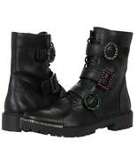 Jessica Simpson Kirlah RhS Buckle Detail Leather Combat Boots, Multi Siz... - $139.95
