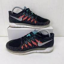 NIKE FREE 5.0 Running Gym Fitness Shoes Black Hyper Jade Galaxy Womens Size 9 - $23.99