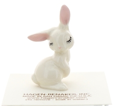 Hagen-Renaker Miniature Ceramic Rabbit Figurine White Bunny Mama