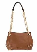 MICHAEL KORS JET SET MEDIUM CHAIN MESSENGER LEATHER SHOULDER BAG LUGGAGE - $189.79