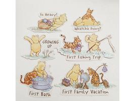 Winnie the Pooh Cardstock Ephemera, Glittered, 14 Pieces