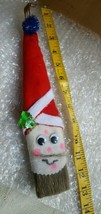 "Handmade Santa Paintbrush Christmas Tree Ornament /Decoration ~ 13"" - $5.17"