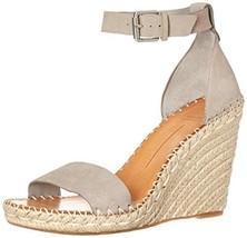 Dolce Vita Women's Noor Wedge Sandal, Grey Nubuck, 10 M US - $52.73