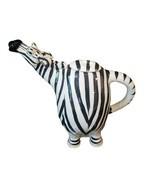 Zebra Ceramic Teapot Decorative Kitchen Collectible Lynda Corneille Home Décor - $56.99