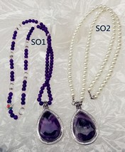 Sofia The First NECKLACE purple CRYSTAL adult - $25.73+