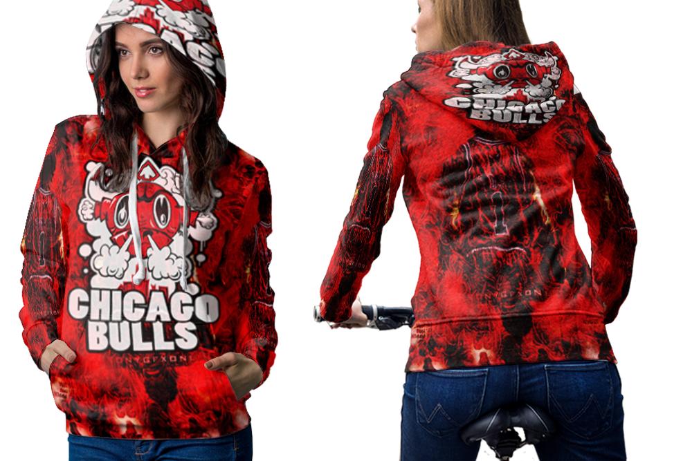 Chicago basketball hoodie women
