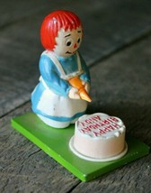 Vintage 70's RAGGEDY ANN Birthday Metal Figurine / Cake Topper by Vanity... - $21.28