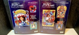Lot 2 J&P Coats Cross Stitching Kits Cute As A Button Folk Art Angels... - $18.00