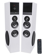 """Tower Speaker Home Theater System+8"""" Sub For Sony X690E Television TV-White - £293.28 GBP"""