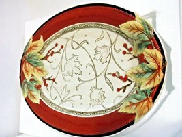 Fitz and Floyd Bountiful Holiday Collection, Serving Platter, Red/White - $43.34