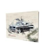 1957 Chevrolet Bel Air Muscle Car Art Design16x20 Aluminum Wall Art - $59.35
