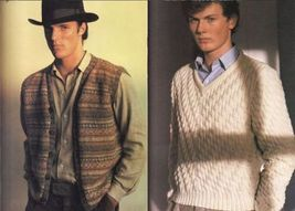 Vtg Vogue Mens Knits 25 Designs Tennis Sailing Ski Cricket Sweaters Patterns image 6