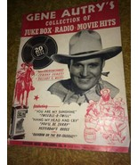 1945 Gene Autry's Collection of Juke Box Radio Movie Hits Songbook Book - $10.93