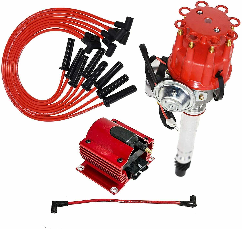 Chevy GM Chevy BBC R2R Distributor 396 427 454 502 8mm Spark Plug Wires 45K Coil