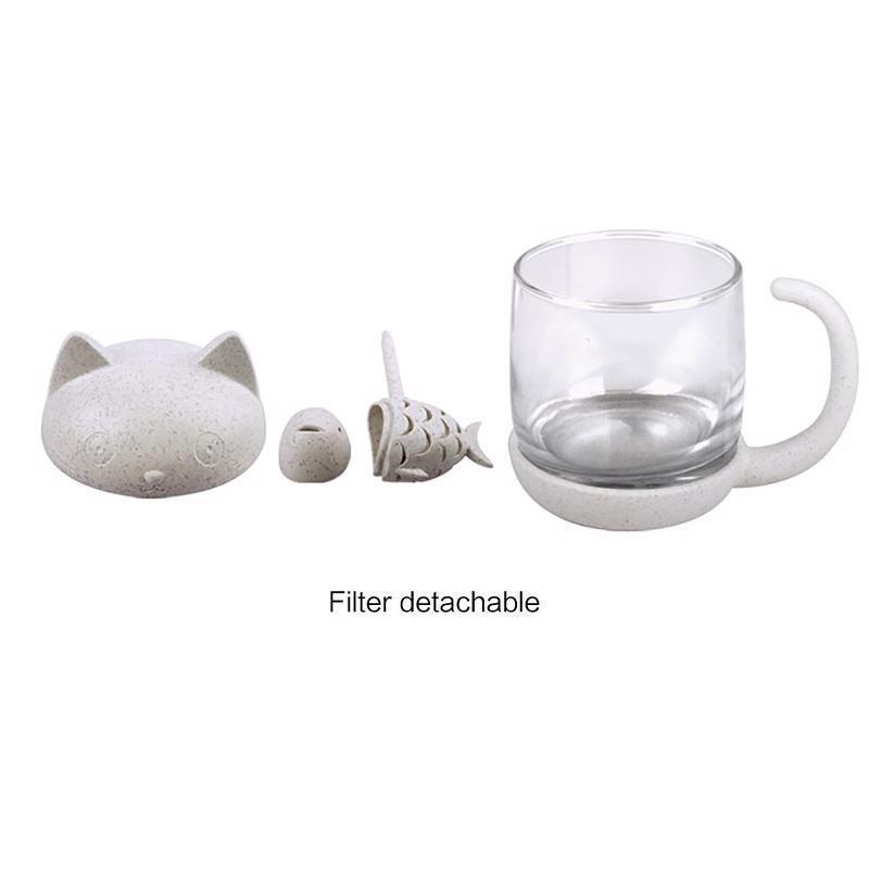 Cat Tea Infuser Mug Teapot For Tea & Coffee Filter Drinkware Kitchen Tools
