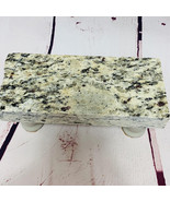 Granite Cheese Tray Board  Gray w Black Accents w Driftwood Stained Legs... - $45.00