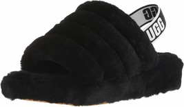 Womens UGG Fluff Yeah Slide Slipper - Black [1095119] - $93.99