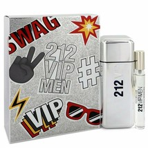 212 Vip By Carolina Herrera Gift Set -- 3.4 Oz Eau De Toilette Spray + .34 Oz Mi - $90.32