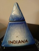 "Vintage Jim Beam Bourbon Whiskey Decanter Indianapolis Indiana  1970 "" Imperial  image 4"