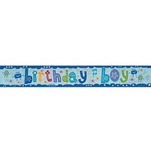 Amscan 9900011 2.7 M Birthday Boy Holographic Foil Banner #gge - $5.09