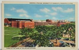 Minneapolis Famed Golden Gophers Memorial Stadium Minnesota Postcard P4 - $7.95