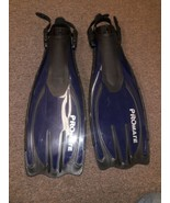 Swim Fins Flippers Pro mate Size small to medium. Blue black - $19.79