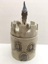 Vintage Wizard Castle Stoneware Crockery Cookie Jar - $178.19
