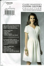 Vogue Pattern V9046 Claire Sharffers Couture Collection Dress Sz 16-24 New - $6.93