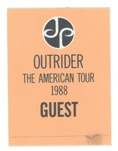 COOL Jimmy Page 1988 Outrider Tour GUEST Backstage Pass! Led Zeppelin - $19.79