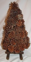 """Christmas Tree Made from Pine Cones 18"""" Tall Rustic Decoration Holiday N... - $12.70"""