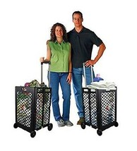 Grocery Shopping Cart On Wheels Folding Laundry Utility Storage School P... - $56.42