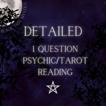 1 Question Detailed Psychic Tarot Reading - $17.00
