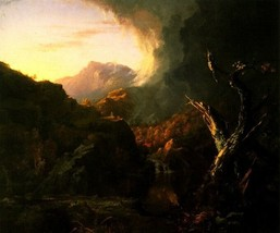 Landscape With Dead Tree 1828 American Wilderness Painting By Thomas Cole Repro - $10.96+