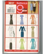 Butterick Uncut Sewing Pattern #3037 Misses Top Skirt Scarf Sizes 20 22 24 - $9.50