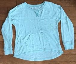 * childrens place solid blue long sleeve tee shirt medium 7 - 8 girls - $4.46