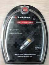 Radio Shack Technology Plus Coax Cable 12ft TV, VCR Cable Box AD8