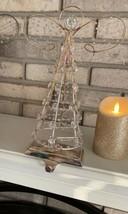 POTTERY BARN ANGEL STOCKING HOLDER Christmas Mantle Hanger SILVER CRYSTA... - $29.95