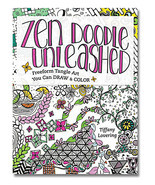 Zen Doodle Unleashed Coloring Book: Freeform Tangle Art - £15.75 GBP