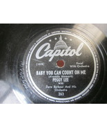 """10"""" 78 rpm RECORD CAPITOL 263 DAVE BARBOUR PEGGY LEE BABY YOU CAN COUNT ... - £7.62 GBP"""