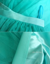 Maxi Full Tulle Skirts Wedding Separate Skirt Bridesmaid Tulle Skirts Water Blue image 8