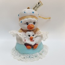 Jasco Caring Critters Chimers Duck Bell Hand Painted Bisque Porcelain Or... - $24.99