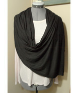 "Multi-way Cowl Infinity Scarf Brown stretch knit 44""x112"" Wrap Shawl sem... - £9.70 GBP"