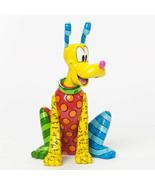 "8.15"" High  Disney Britto Pluto Figurine Multicolor Hand Painted - $89.09"