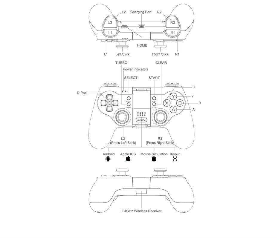 Bluetooth Wireless Gaming Controller Gamepad And 50 Similar Items