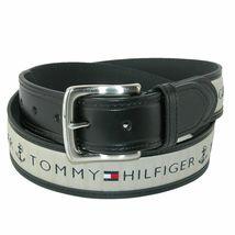 Tommy Hilfiger Men's Premium Ribbon Inlay Anchor Logo Leather Belt 11TL02X032 image 8