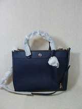 Tory Burch Navy Blue Saffiano Leather Robinson Double-Zip Tote - $443.50