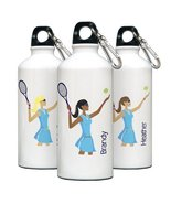 "Personalized ""Go-Girl"" Tennis Water Bottle - $33.37"