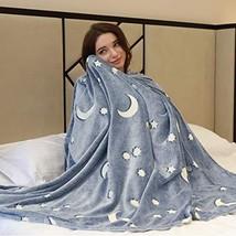 DECOSY Plush Blanket Super Soft Cozy Velvet Star Shining Luminous Blanke... - $48.86 CAD